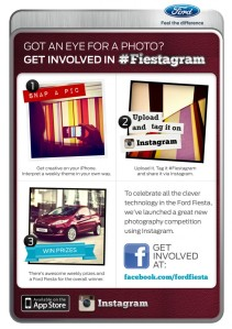 fiestagram-flyer contest ford fiest on Instagram