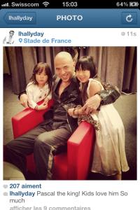 hallyday backstage instagram obispo kids intimate
