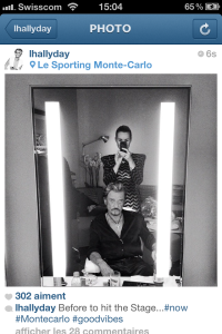johnny hallyday before stage laeticia instagram intimate backstage