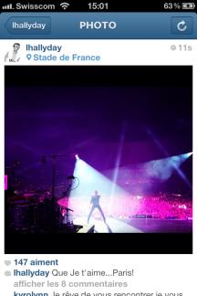 lhallyday backstage concert stade de france instagram