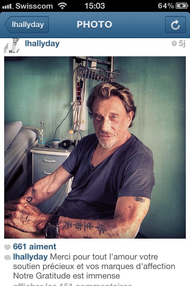 news johnny ill l hallyday instagram merci thank you