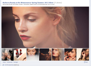 Burberry backstage facebook timeline  storytelling